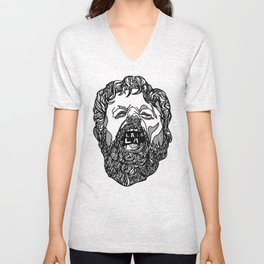Beard Man Sings Unisex V-Neck