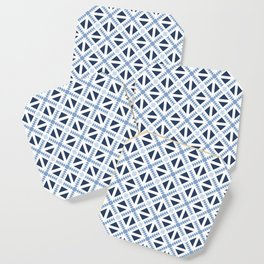 Geo Stamp Blue Coaster