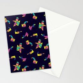 Origami blue Stationery Cards