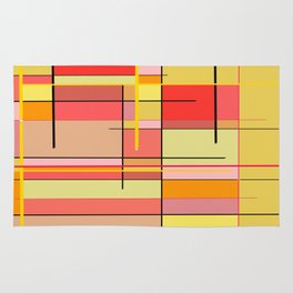 color and lines Rug