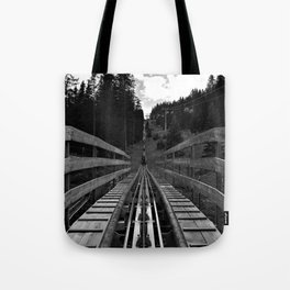 adventure park hög schneisenfeger coaster alps sfl tyrol austria europe black white Tote Bag