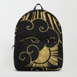 The Sun Always Shines Behind The Clouds Backpack