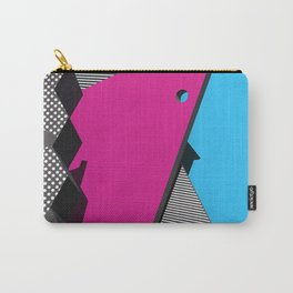 3D 1980s Inspired Geometric Print Carry-All Pouch