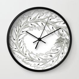 Mobius Acanthus Wall Clock