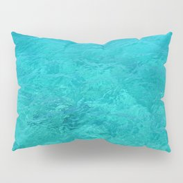Clear Turquoise Water Pillow Sham