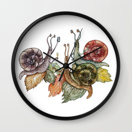 Snail's party Wall Clock