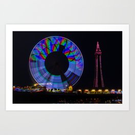 Central Pier Blackpool Art Print