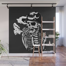 Military skeleton illustration - Soldier skull Wall Mural