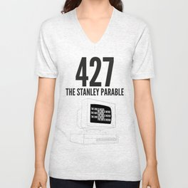 THE STANLEY PARABLE - THE END IS NEVER Unisex V-Neck