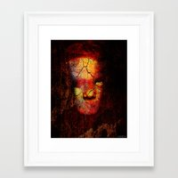 zombie Framed Art Prints featuring Zombie by Joe Ganech