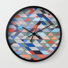 Triangle Pattern No. 7 Diagonals Wall Clock