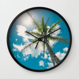 Best Summer Ever - Tropical Palm Trees Wall Clock