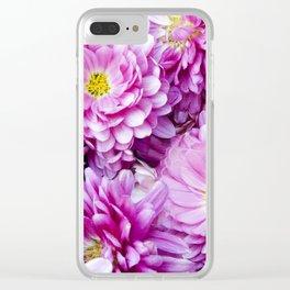 Padre Cerise Belgian Mum 'Bouquet' Clear iPhone Case