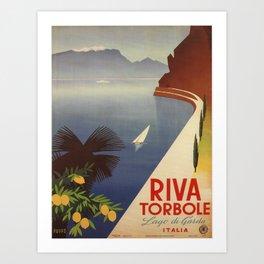 Vintage poster - Riva Torbole Art Print