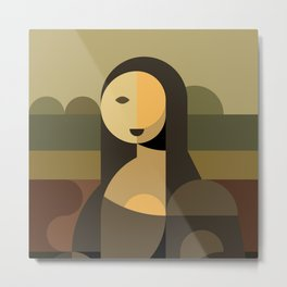 Mona Lisa Abstract Metal Print