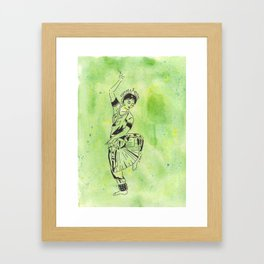 Shakti  (traditional Indian dancer) Framed Art Print