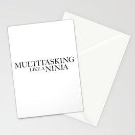 Multitasking Like A Ninja Stationery Cards