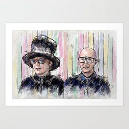 Pet Shop Boys Art Print