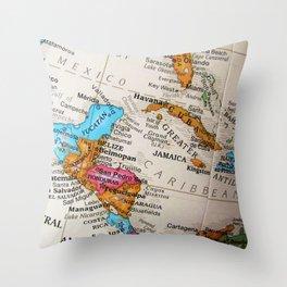 Map Art Throw Pillow