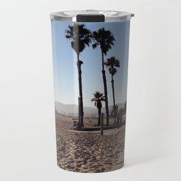 Santa Monica Beach in California Travel Mug