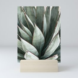 Cactus Leaves // Green Southwest Home Decor Vibes Desert Hombre Plant Photograph Mini Art Print