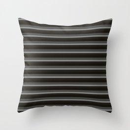 Black Ombre Stripes Throw Pillow