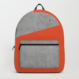 Concrete and Flame Color Backpack
