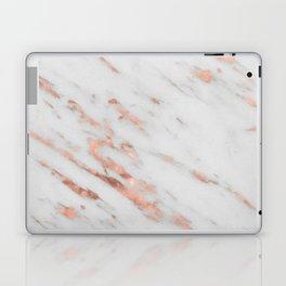 Lenola - minimalist rose gold gleam marble Laptop & iPad Skin