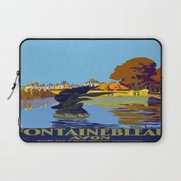 Vintage poster - Fontainebleau Laptop Sleeve