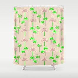 Palm Trees - Green & Neutral Shower Curtain