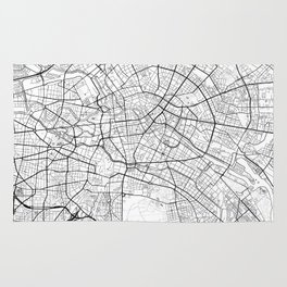 Berlin Map White Rug