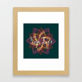 Bohemian Style Moody Colors, Yoga Love Mandala Framed Art Print