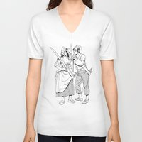 pirates V-neck T-shirts featuring Pirates by Tom Tierney Studios