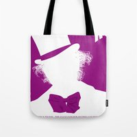 willy wonka Tote Bags featuring Willy Wonka Tribute Poster by stefano manca