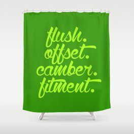 flush offset camber fitment v2 HQvector Shower Curtain