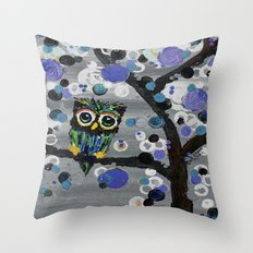 ::Gemmy Owl Weather's the Storm:: Throw Pillow