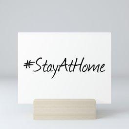 #StayAtHome Mini Art Print