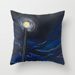 Night Stroll II - Dark Mode Throw Pillow