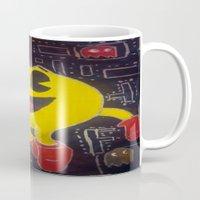 pacman Mugs featuring pacman by RaieshaM