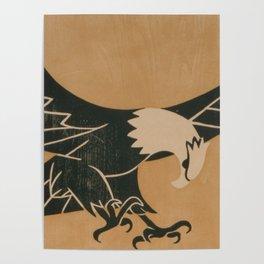Vintage Illustration of a Bald Eagle (1917) Poster