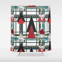 Art. Morning Fantasies . Patchwork Shower Curtain