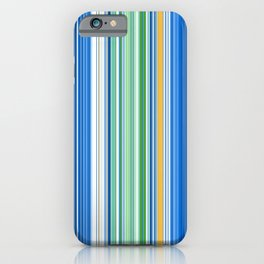 Ocean Blue Stripes iPhone Case