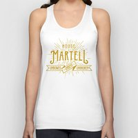 martell Tank Tops featuring House Martell Typography by P3RF3KT