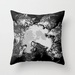 Moon Eaters Throw Pillow