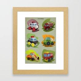 Toy Trucks!  Framed Art Print