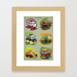 Toy Trucks!  Framed Art Print