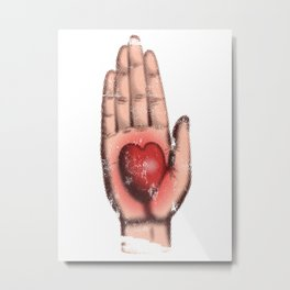 Heart in Hand Metal Print