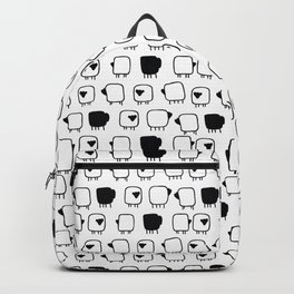 Black and white sheeps Backpack