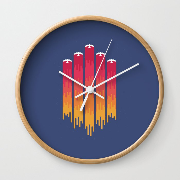 Break the Night with Color Wall Clock