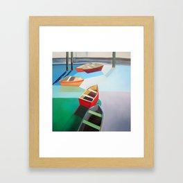 Five Boats Framed Art Print